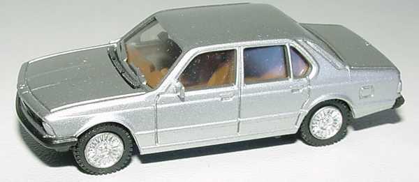 Foto 1:87 BMW 745i (E23) silbermet., IA beige, Speichen-Felgen herpa 3027