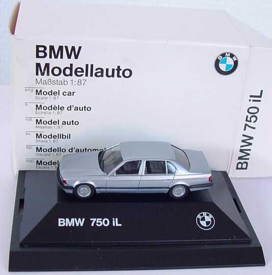 Foto 1:87 BMW 7er 750iL E32 silber-met. - Werbemodell - herpa 82229417776