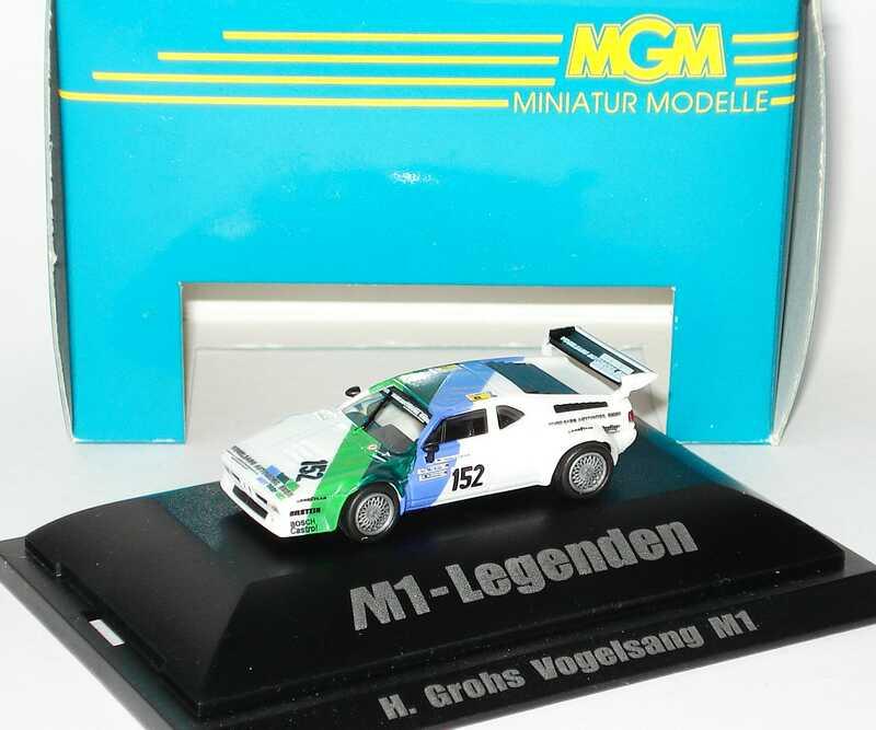 Foto 1:87 BMW M1 Sport 24 h von Le Mans 1985  Vogelsang Nr.152, Grohs / Heger / König (M1-Legenden) MGM