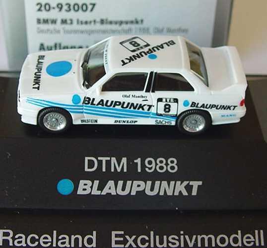 Foto 1:87 BMW M3 (E30) DTM 1988 Blaupunkt Nr.8, Olaf Manthey (Raceland) herpa 20-93007