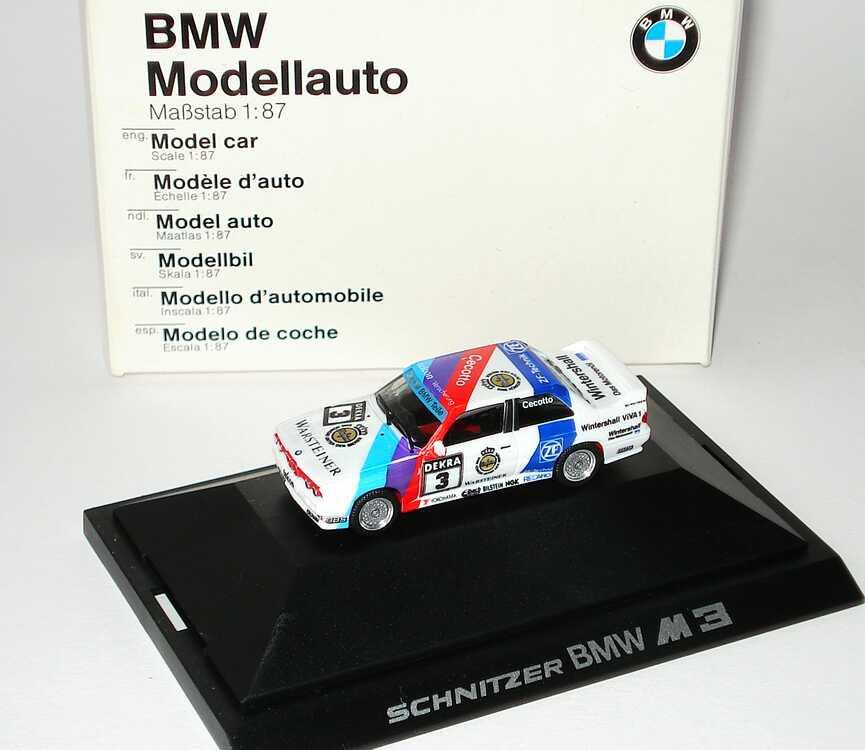 Foto 1:87 BMW M3 (E30) DTM 1990 Schnitzer Nr.3, Cecotto Werbemodell herpa 82229417842