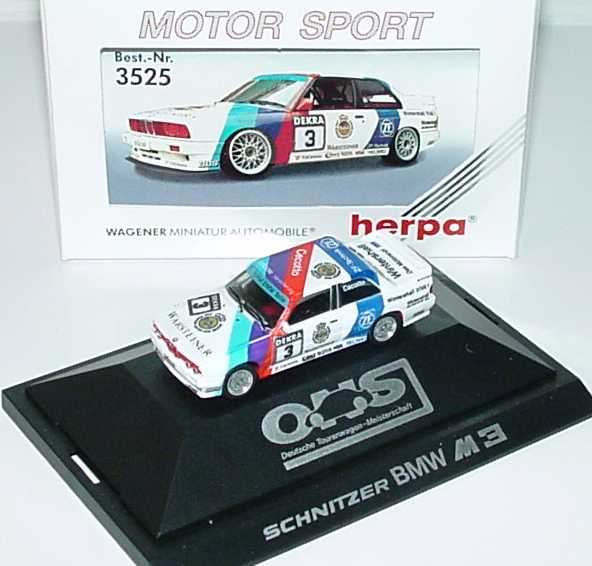 Foto 1:87 BMW M3 (E30) DTM 1990 Schnitzer Nr.3, Cecotto herpa 3525