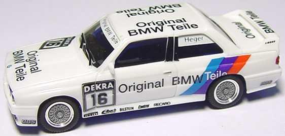 Foto 1:87 BMW M3 (E30) DTM 1991 Linder, Original BMW Teile Nr.16, Heger (ohne PC-Box) herpa 3533