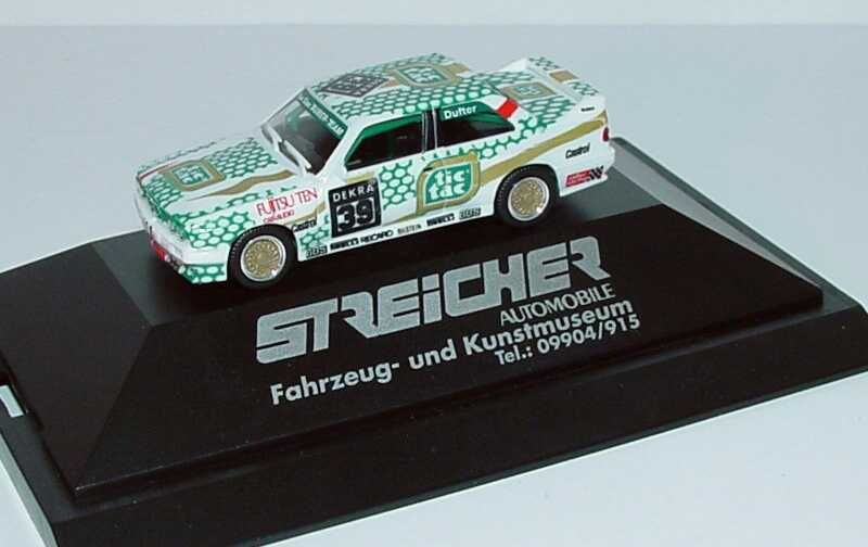 Foto 1:87 BMW M3 (E30) DTM 1991 Tauber, Tic Tac Nr.39, Dufter Streicher Automobile herpa