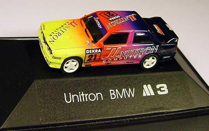 Foto 1:87 BMW M3 (E30) DTM 1992 Unitron Nr.21, Nissen (Handmade by BMD)(oV) herpa