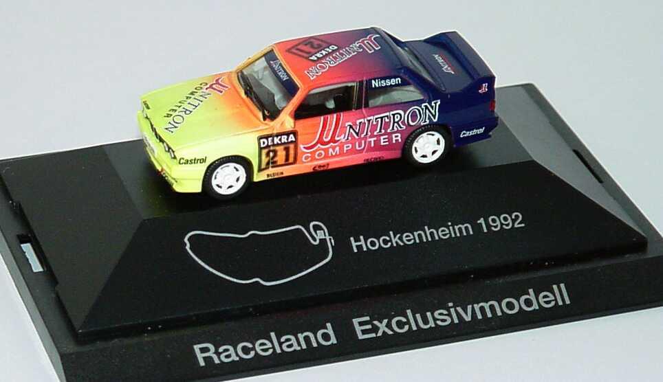 Foto 1:87 BMW M3 (E30) DTM 1992 Unitron Nr.21, Nissen (Raceland Exclusivmodell) herpa