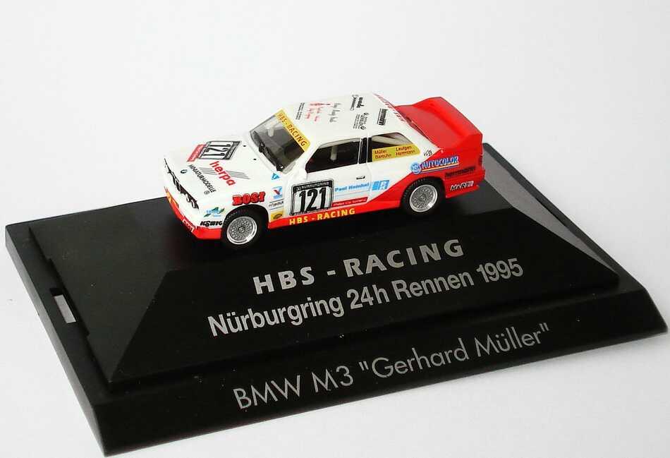 Foto 1:87 BMW M3 (E30) Nürburgring 24h 1995 HBS-Racing Nr.121, Müller / Laufgen / Barsuhn / Herrmann herpa 080071