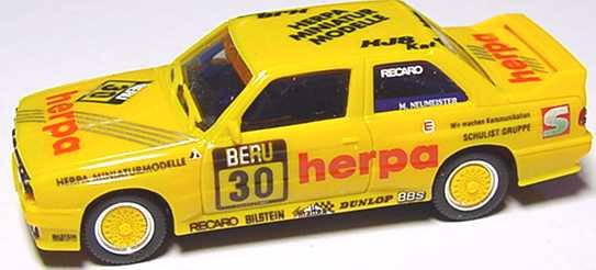 Foto 1:87 BMW M3 E30 DTT 1991 herpa Nr.30 Neumeister ohne PC-Box - herpa 3530