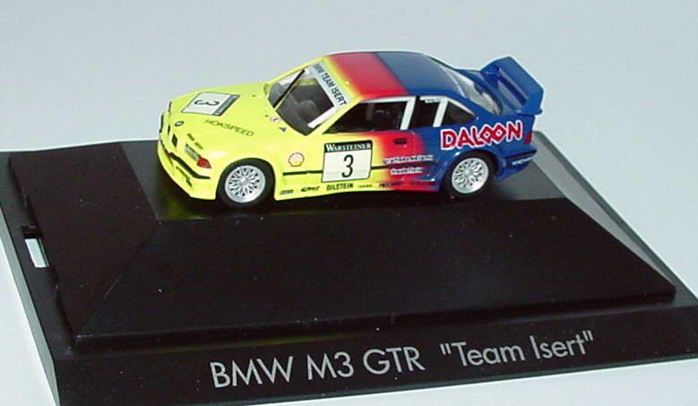 Foto 1:87 BMW M3 GTR Isert, Daloon Nr.3 , Nissen (ADAC GT Cup ´93) herpa 182867