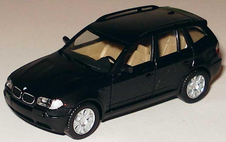Foto 1:87 BMW X3 E83 schwarz-met. - herpa 033220