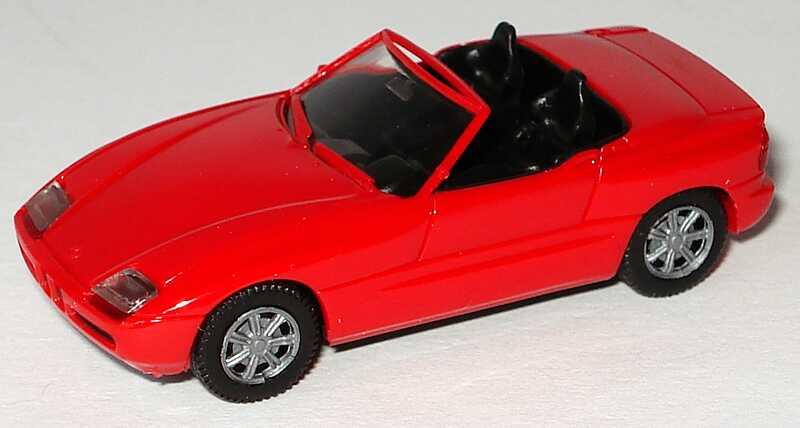 rot Herpa H0 020749 BMW Z1 Cabriolet dunkelweinrot
