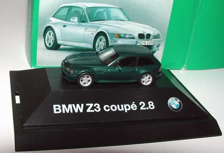 Foto 1:87 BMW Z3 Coupé 2.8 dunkelgrün-met. Werbemodell herpa 80419420696
