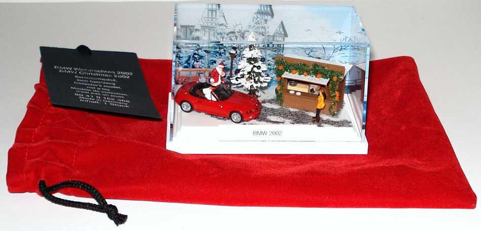Foto 1:87 BMW Z3 facelift rotBMW Weihnachten 2002 Werbemodell herpa 80410152368