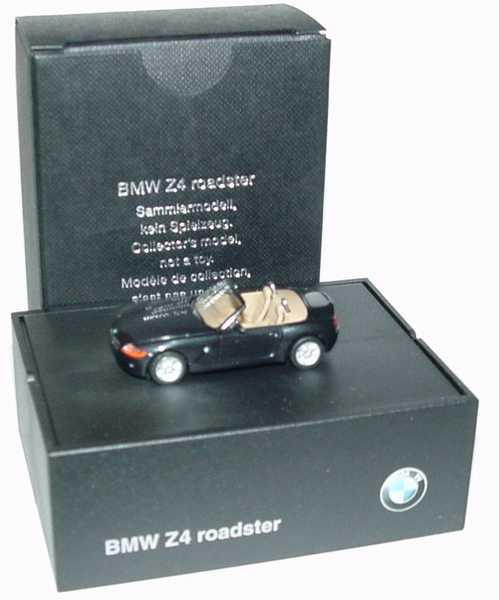 Foto 1:87 BMW Z4 schwarz-met. Werbemodell herpa 80410144025