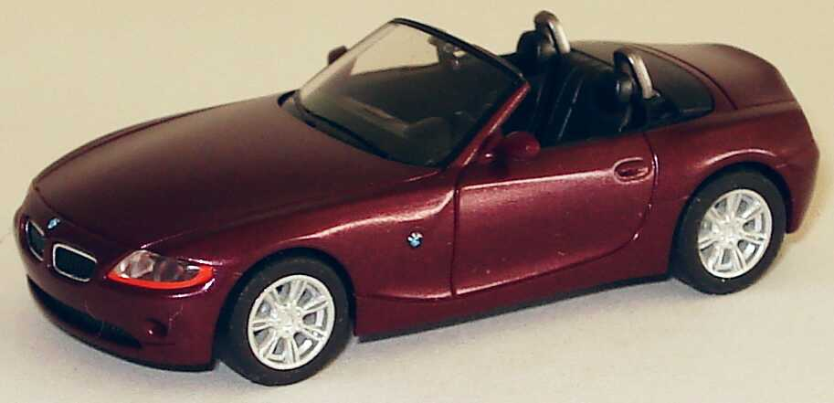 Foto 1:87 BMW Z4 weinrot-met. herpa 033121
