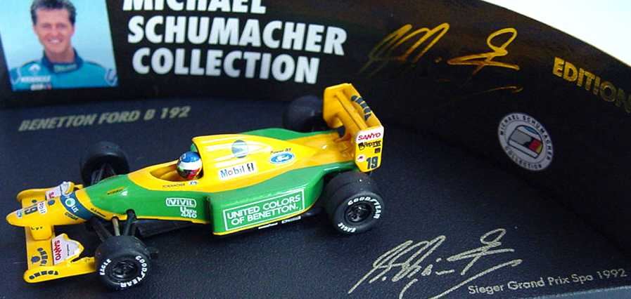 Foto 1:87 Benetton Ford B 192 Nr.19, Michael Schumacher (Sieger GP Spa 1992) Paul´s Model Art 510928719