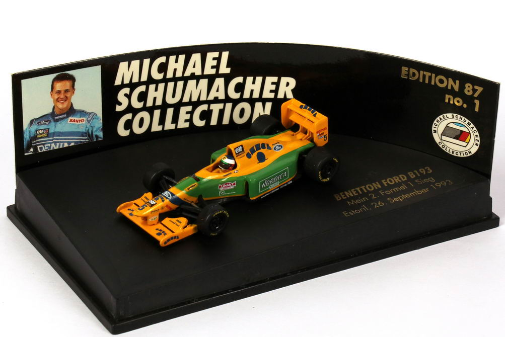 Foto 1:87 Benetton Ford B 193 Formel 1 1993 Nr.5 Michael Schumacher - mein 2. Formel 1 Sieg - Pauls Model Art 510 938705