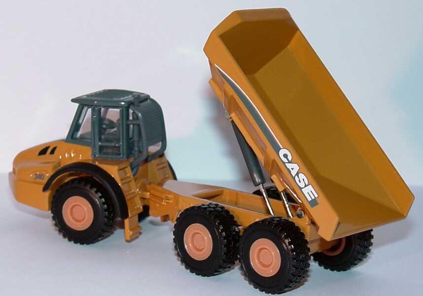 Foto 1:87 Case 340 knickgelenkter Muldenkipper /Dumper 3a Case-gelb Norscot 21001