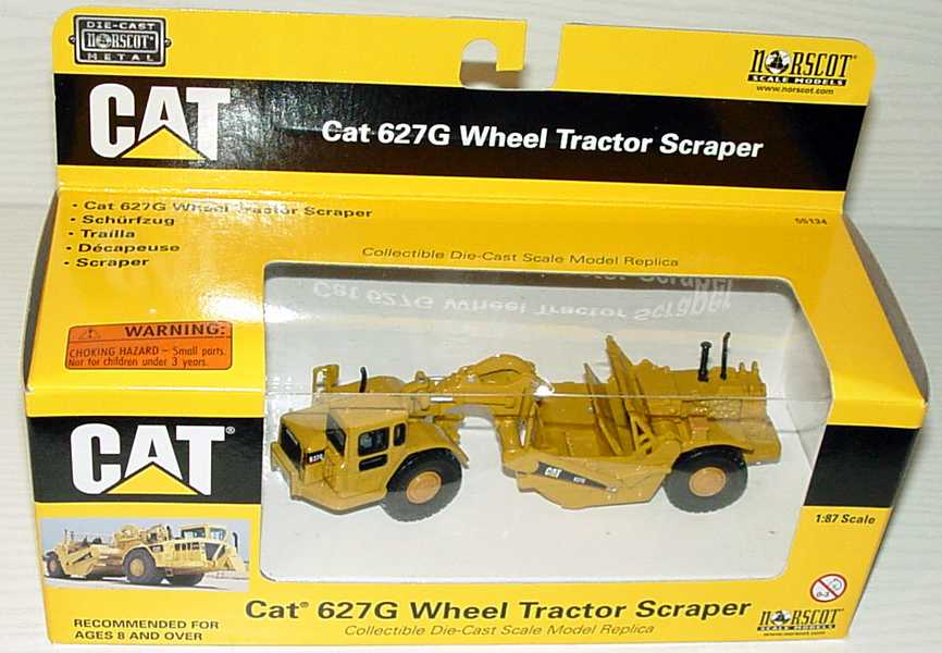 Foto 1:87 Caterpillar CAT 627G Schürfzug CAT-gelb Norscot 55134
