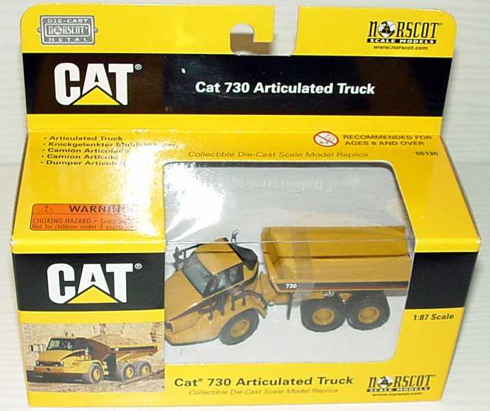 Foto 1:87 Caterpillar CAT 730 Knickgelenkter Muldenkipper / Dumper CAT-gelb Norscot 55130