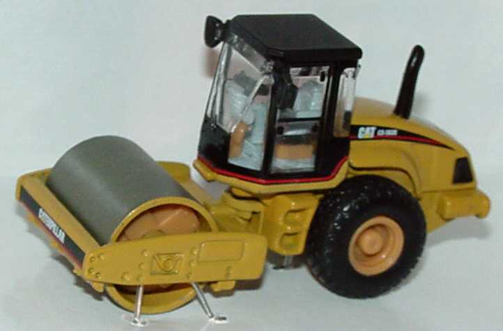 Foto 1:87 Caterpillar CAT CS-563E Vibrationswalze mit Glattmantelbandage CAT-gelb (Die-Cast-Modell) Norscot 55155