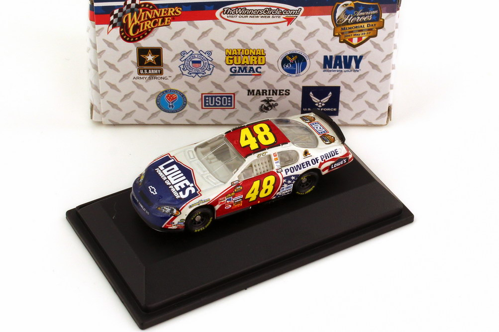 Foto 1:87 Chevrolet Monte Carlo SS NASCAR 2007 Hendrick Motorsports, Lowe´s Nr.48, Jimmie Johnson (Memorial Day Edition) Winners Circle 64759