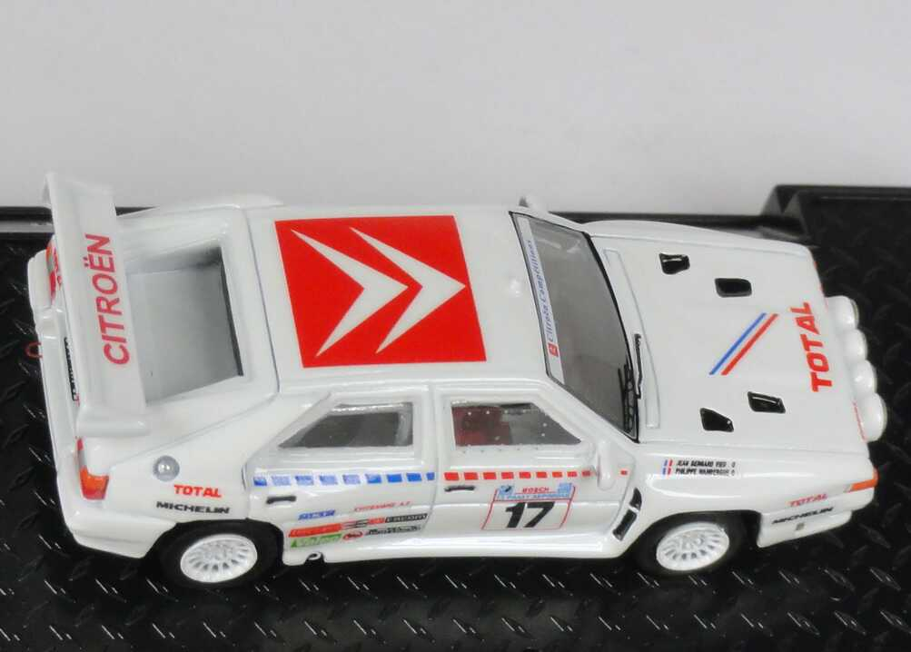 Foto 1:87 Citroen BX 4TC evo WRC Acropolis Rally 1986 Nr.17, Wambergue / Vieu Makette CollecCit 8002