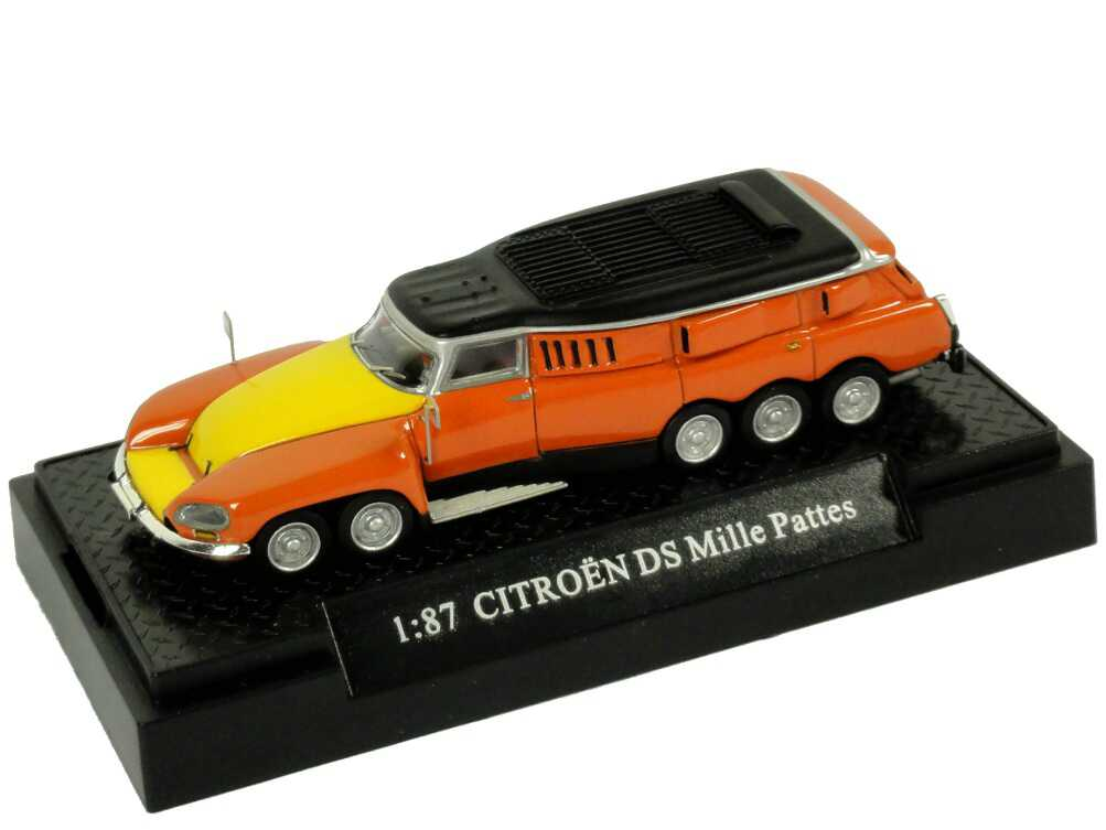 Foto 1:87 Citroen DS Mille Pattes Michelin Testfahrzeug orange/gelb Makette CollecCit 8003