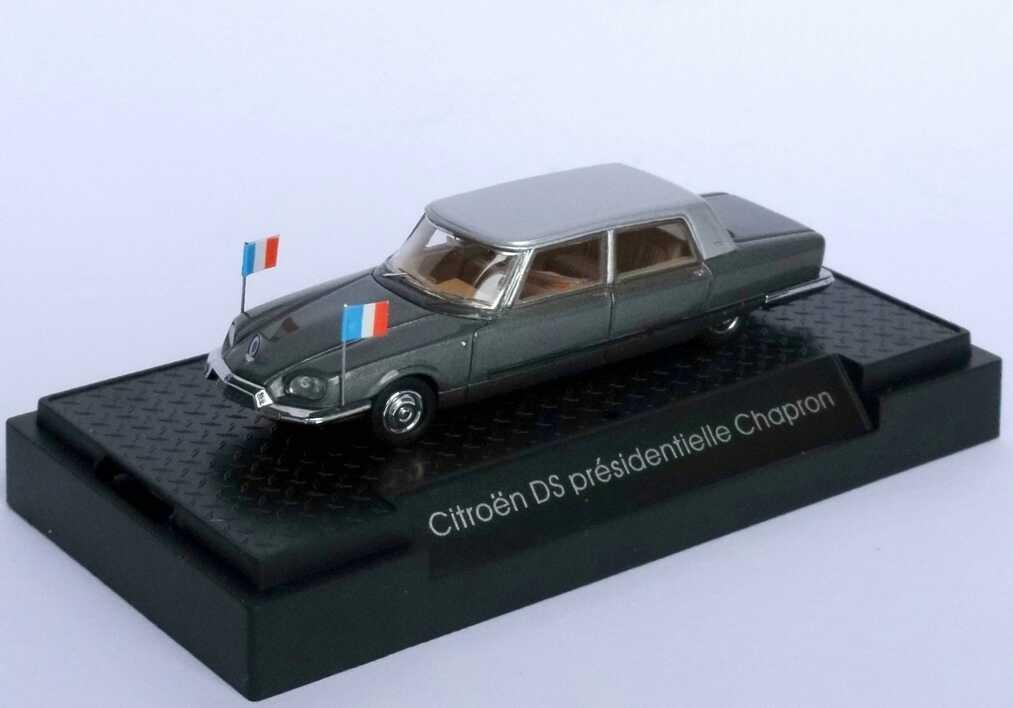 Foto 1:87 Citroen DS présidentielle Chapron 1968 grau-met. Staatslimousine - Makette CollecCit 8001