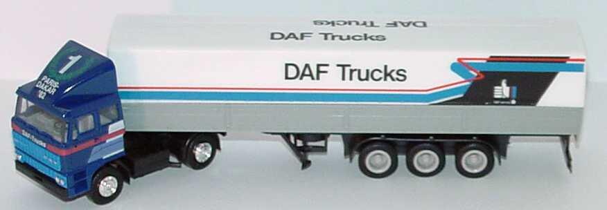 Foto 1:87 DAF 3300 mit Dachspoiler PPSzg 2/3 DAF Trucks, Nr.1 Paris-Dakar ´82 herpa