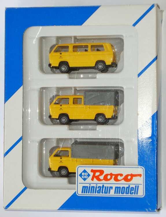 Foto 1:87 DBP Fernmeldedienst (VW T3 Bus + VW T3 PP + VW T3 Doka PP) Roco 1553
