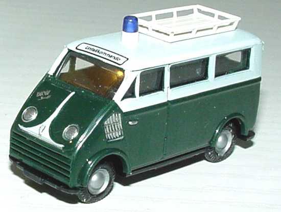 Foto 1:87 DKW 3=6 Bus Stadtpolizei Würzburg Unfallkommando Busch 40906