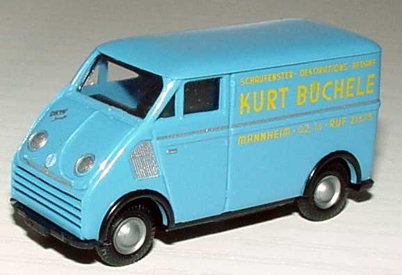 Foto 1:87 DKW 3=6 Kasten Schaufenster-Dekorations-Bedarf Kurt Büchele, Mannheim Busch 40903
