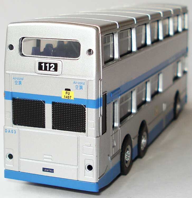 Foto 1:87 Dennis Condor Doppelstockbus CMB China Motor Bus, DA53 silbermet./blau (Ziel: North Point, 112) Peak Horse 22103