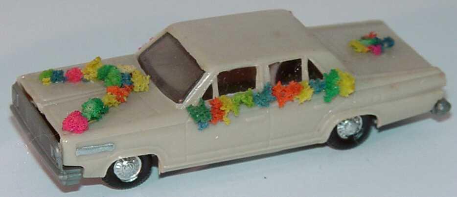 Foto 1:87 Dodge Dart graubeige Hochzeitsauto (Bastelware) EKO