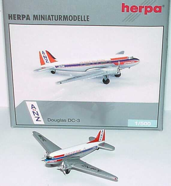 Foto 1:500 Douglas DC-3 SPANZ - Airlines of New Zealand - Viewmaster (Yesterday-Serie) herpa Wings 500210
