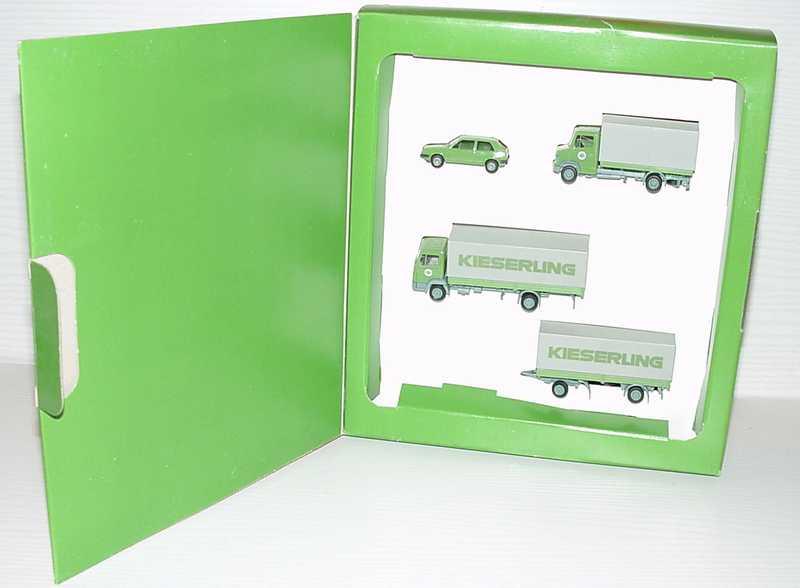 Foto 1:87 EKB Kieserling Set-Packung (VW Golf II + Mercedes T2 PP + Mercedes 814 PPHgz) herpa