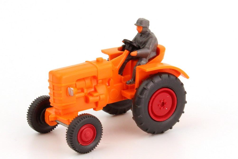 Foto 1:87 Fahr Schlepper D 180 H Traktor orange Wiking 87702