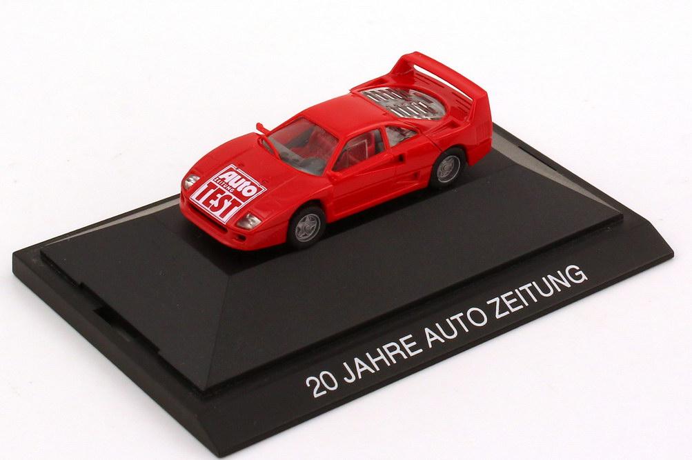Foto 1:87 Ferrari F40 rot 20 Jahre Auto Zeitung herpa