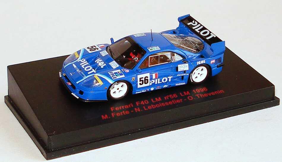 Foto 1:87 Ferrari F40 LM 24h von Le Mans 1996  Pilot Nr. 56, Ferte / Leboissetier / Thevenin RedLine 87RL038