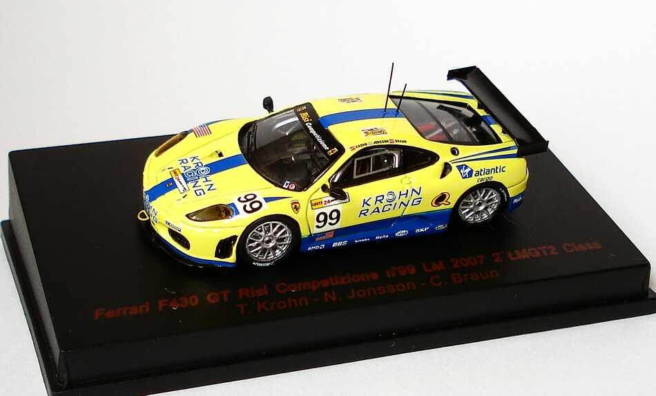 Foto 1:87 Ferrari F430 GT2 24h von Le Mans 2007 Risi Competizione, Krohn Racing Nr.99, Krohn / Jonsson / Braun (2. der LMGT2-Klasse) RedLine 87RL030