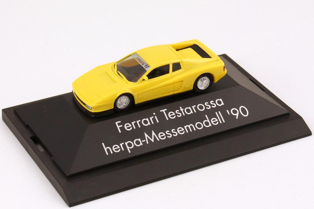 Foto 1:87 Ferrari Testarossa hellgelb Consumenta ´90 herpa