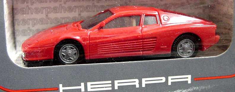 Foto 1:87 Ferrari Testarossa rot (graue Verpackung, groß) herpa 2500