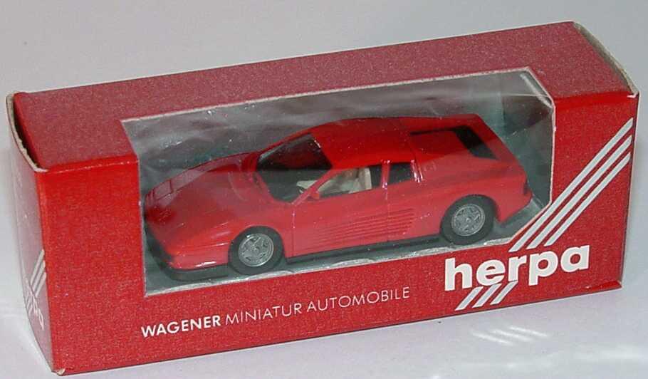 Foto 1:87 Ferrari Testarossa rot (rote Sichtfenster-Verpackung) herpa 2500