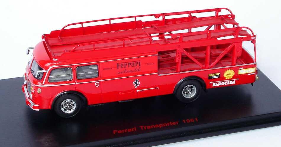 Foto 1:87 Fiat 642 RN 2 Bartoletti Renntransporter Team Ferrari 1961 Ferrari Automobili RedLine 87RL040