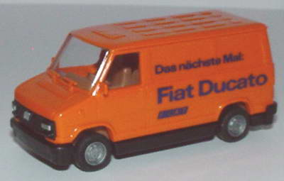 Foto 1:87 Fiat Ducato I Kasten Das nächste Mal Fiat Ducato orange Praliné
