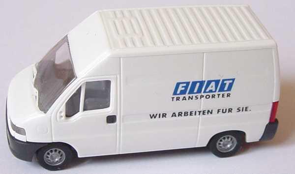 Foto 1:87 Fiat Ducato Kasten Hochdach Fiat Transporter - Wir arbeiten für Sie Werbemodell Busch
