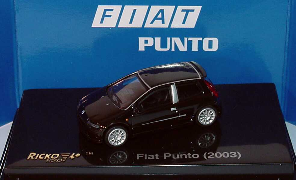 Foto 1:87 Fiat Punto Super 1600 Evo 2003 schwarz Ricko 38829