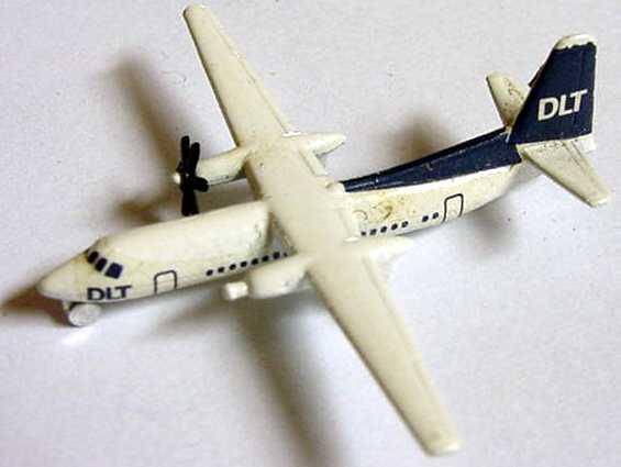 Foto 1:600 Fokker F 27 DLT (ein Propeller fehlt) Schabak
