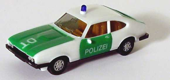 Foto 1:87 Ford Capri Mk III 3.0 Ghia Polizei DT (Scheinwerfer bemalt) herpa